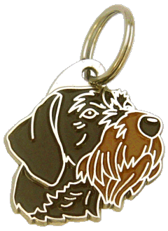 GERMAN WIREHAIRED POINTER BROWN - pet ID tag, dog ID tags, pet tags, personalized pet tags MjavHov - engraved pet tags online